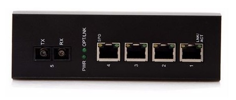 1-port 10/100Mbps Industrial Fiber Unmanaged Switch BTON BT-I914GS-D