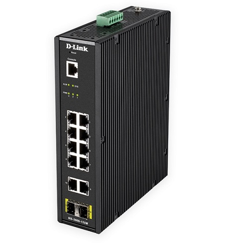 12-Port Gigabit Smart Managed Industrial Switch D-Link DIS-200G-12SW/U