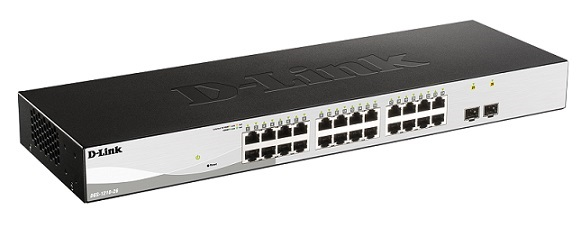 24-Port Gigabit Smart Managed Switch with 2 ports Gigabit SFP D-Link DGS-1210-26