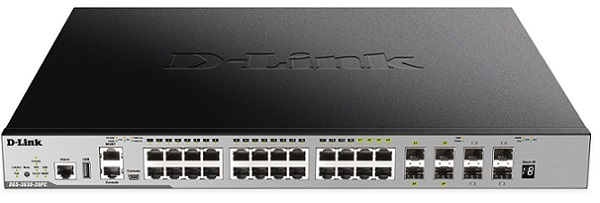 28-Port Gigabit Layer 3 Stackable Managed PoE Switch D-Link DGS-3630-28PC/SI