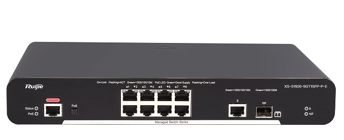 8-port 10/100/1000 Base-T Managed PoE Switch RUIJIE XS-S1920-9GT1SFP-P-E