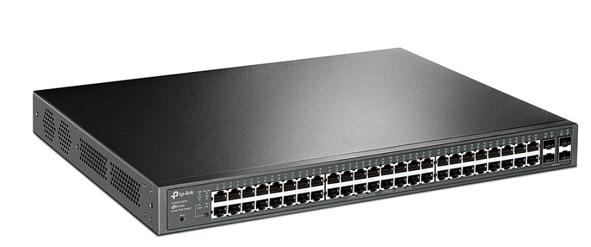 JetStream 48-Port Gigabit Smart PoE+ Switch with 4 SFP Slots TP-LINK T1600G-52PS