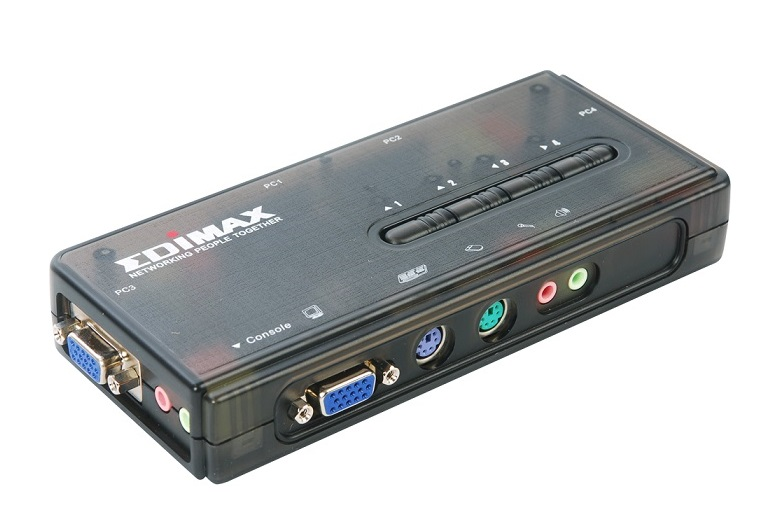 350MHz High Bandwidth 4 Ports PS/2 KVM Switch EDIMAX EK-PAK4