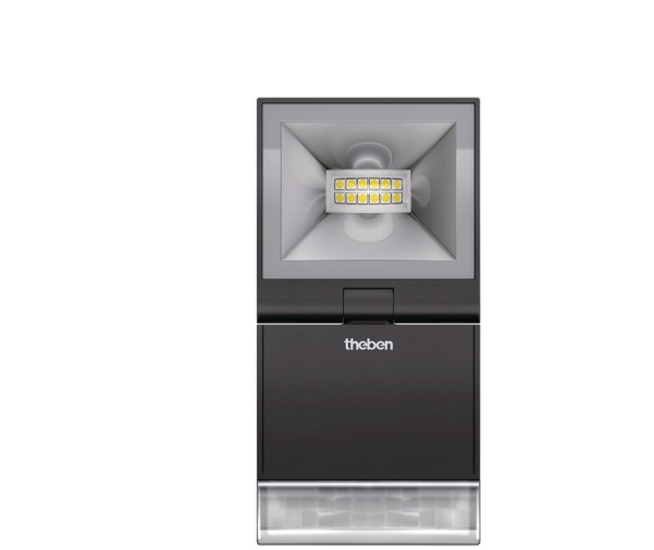 LED Spotlight with Motion Detector THEBEN theLeda S10 BK
