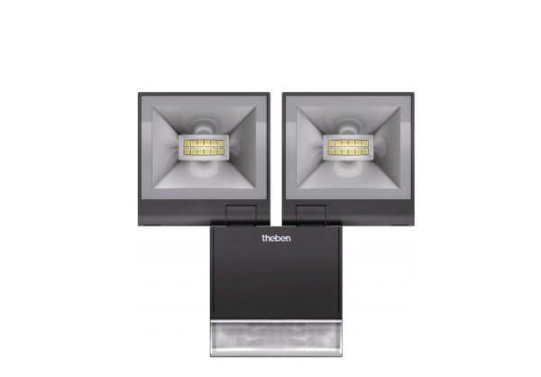 LED Spotlight with Motion Detector THEBEN theLeda S20 W BK