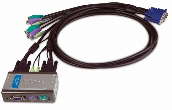 2 Port PS/2 KVM Switch D-Link KVM-121
