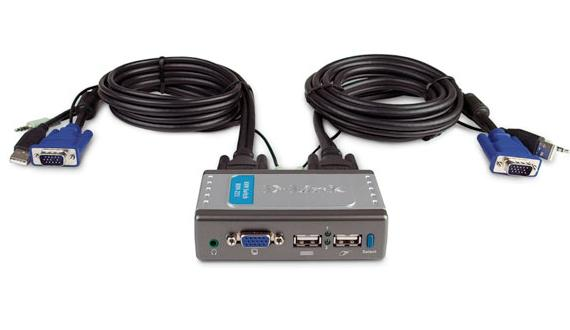 2 Port USB KVM Switch D-Link KVM-221