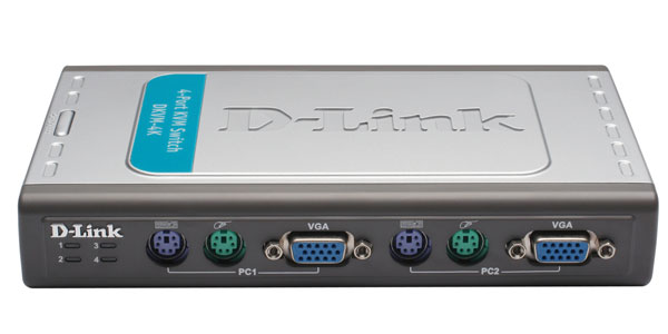 4 Port PS/2 KVM Switch D-Link DKVM-4K