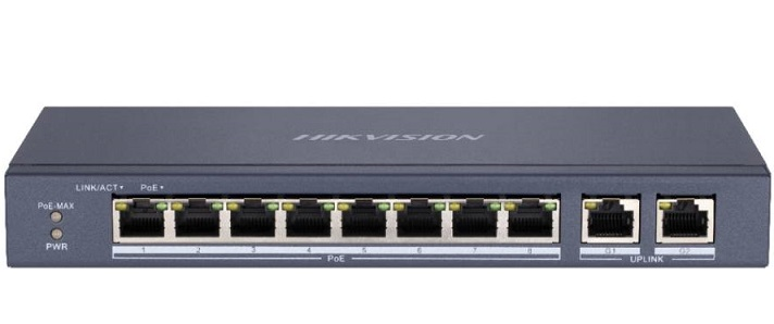 8-port 10/100Mbps Unmanaged PoE Switch HIKVISION DS-3E0310P-E/M