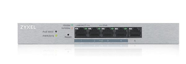 5-Port Web Managed PoE Gigabit Switch ZyXEL GS1200-5HPV2 - SIEU THI VIEN  THONG