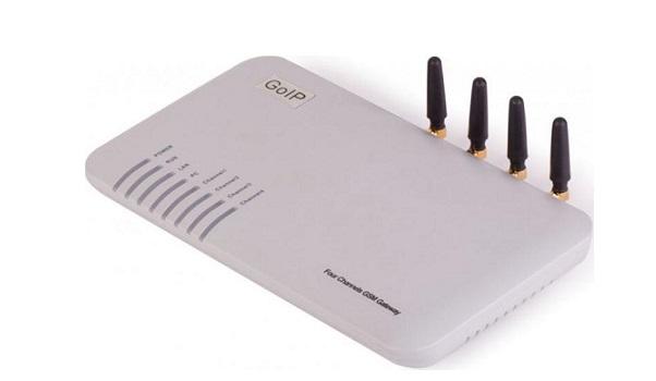 Thiết bị mạng GSM 4 kênh SIM di động GoIP GoIP4