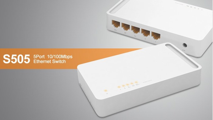 5 ports 10/100Mbps Switch TOTOLINK S505