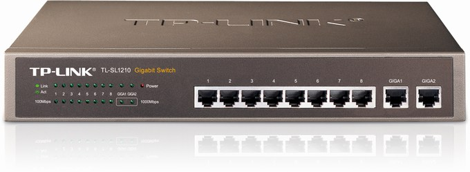 8-Port 10/100M +2-Port G Switch TP-LINK TL-SL1210