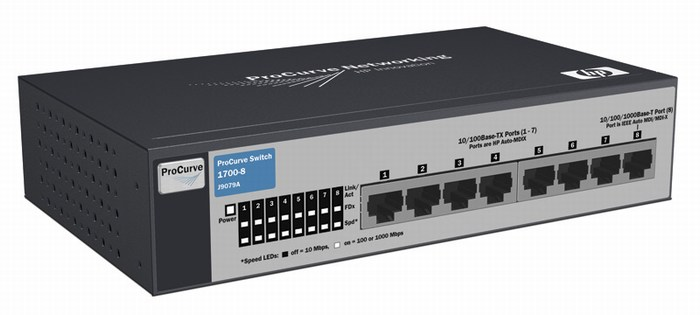 Web- managed HP 1700-8 Switch - J9079A