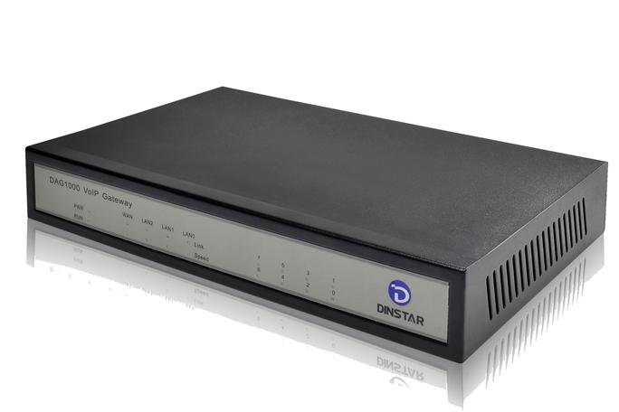 Analog VoIP Gateway Dinstar DAG1000-4S4O