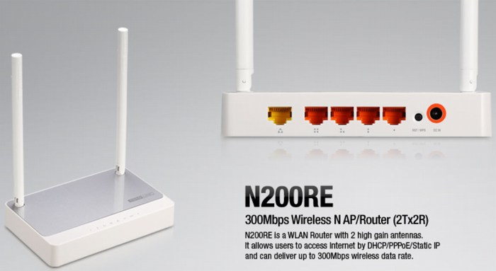 300Mbps Wireless N Router TOTOLINK N200RE