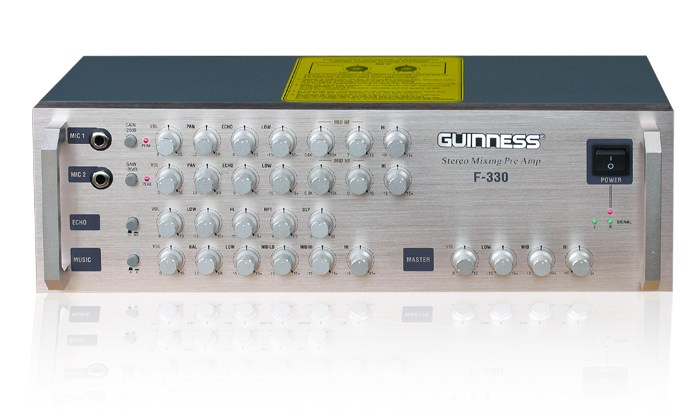 Stereo Mixing Pre-Amplifier GUINNESS F-330
